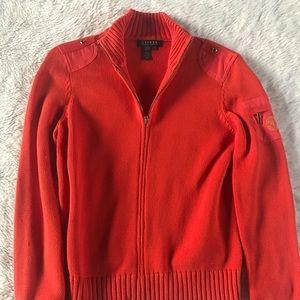 Women's Ralph Lauren Orange Sweater Medium